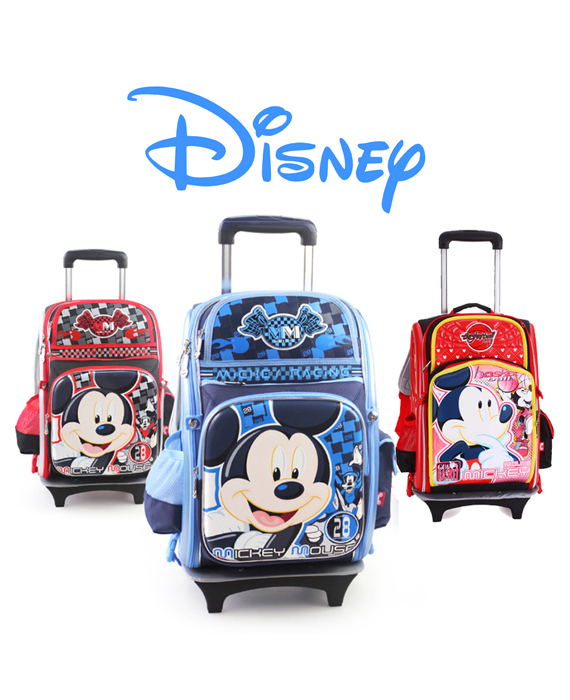 DISNEY MICKEY - 2 Wheels Trolley School Bags (Hard Shell)
