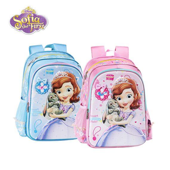 Disney Sofia 3D Large Size - High Quality School Bag / Backpack