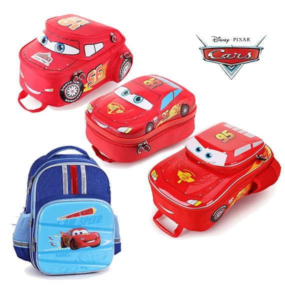 DISNEY LIGHTNING MCQUEEN (3D HARD SHELL) - HIGH QUALITY Backpack (Age 3-8)